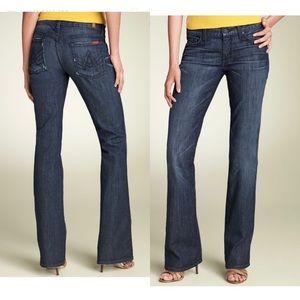 7FAM Dark Wash A Pocket Flare Jeans